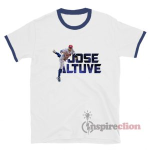 Jose Altuve Houston Astros Crew Player Ringer T-Shirt