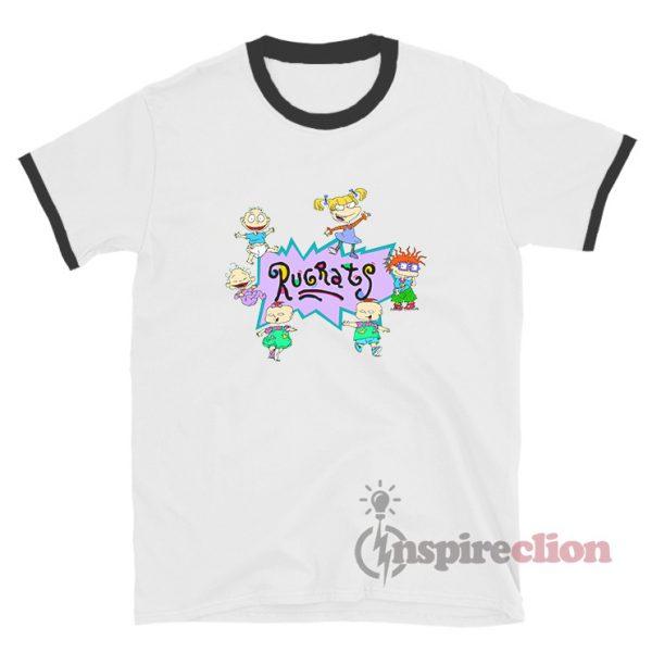 Rugrats Nick Logo And Characters Ringer T-Shirt