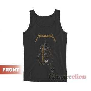 Metallica Hetfield Iron Cross Guitar Tank Top