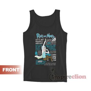 Rick And Morty Quotes Tank Top For Unisex