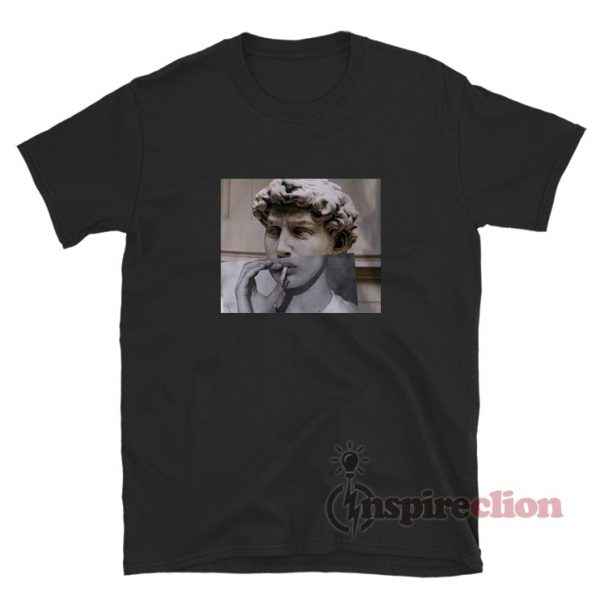 Michelangelo Smoking Funny T-Shirt