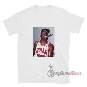 Michael Jordan Cigar Smoke Champions T-Shirt