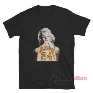 Marilyn Monroe Lakers 24 Kobe Bryant T-Shirt