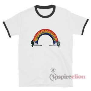 Harry Styles Musgraves Rainbow Logo Ringer T-Shirt