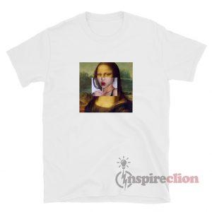 Mona Lisa Lollipop Lips T-Shirt