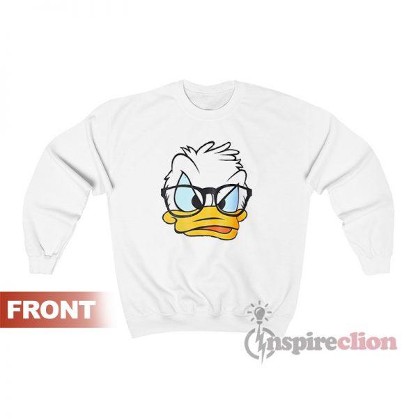 Disney Donald Duck Face Sweatshirt