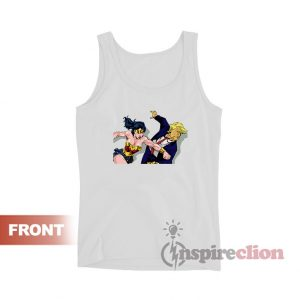Wonder Woman Punching Donald Trump Tank Top