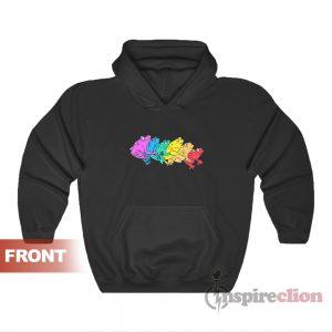 Gay Frog Rainbow Funny Hoodie