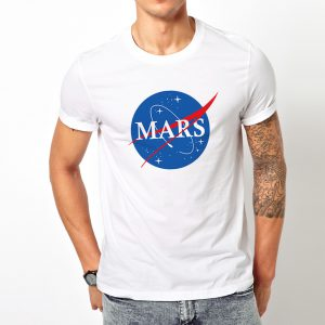 Nasa Logo Parody Mars T-Shirt Cheap Custom