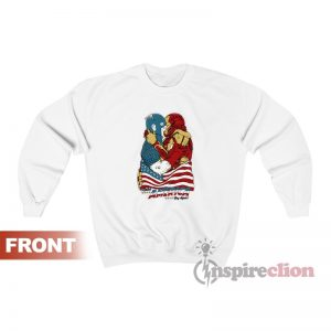 Iron Man kissing Captain America Sweatshirt