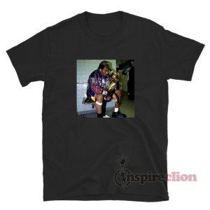 Kobe Bryant Holding Trophy T-Shirt