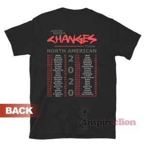 Justin Bieber Changes Tour 2020 T-Shirt