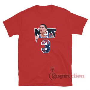 Drazen Petrovic #3 Nets Player And Number Photo T-Shirt