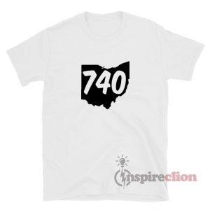 740 Area Code Ohio T-Shirt For Unisex