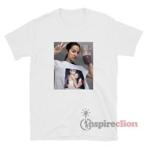 Olivia Rodrigo Wearing Taylor Swift Hugging Lorde T-Shirt