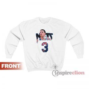 Drazen Petrovic #3 Nets Player And Number Sweatshirt