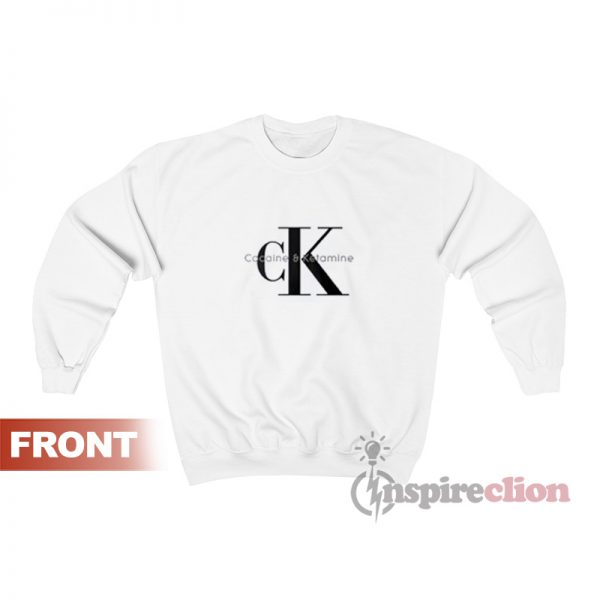 Cocaine & Ketamine CK Parody Sweatshirt