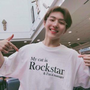 My Cat Is Rockstar And I'm A Manager T-Shirt For Unisex