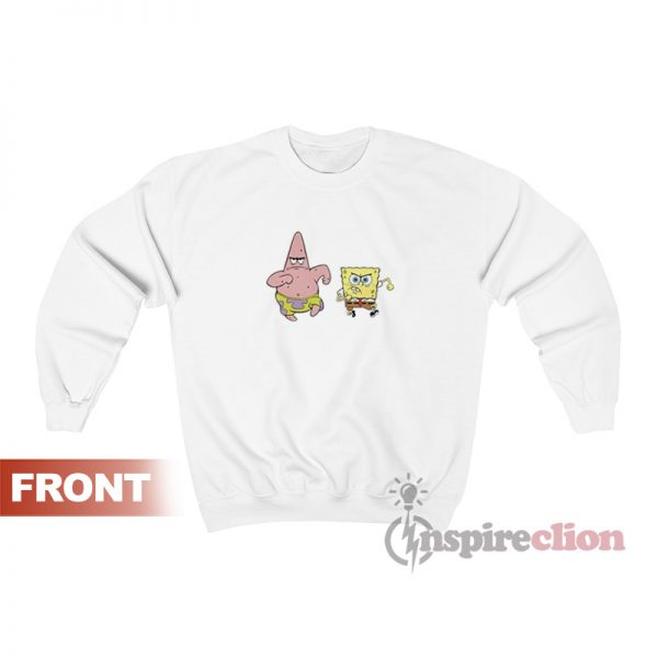Spongebob And Patrick Cartoon Sweatshirt