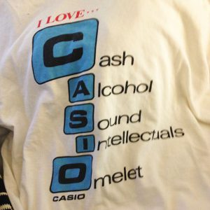 I love Casio Cash Alcohol Sound Intellectuals Omelet T-Shirt