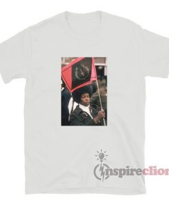 A Woman Holds A Flag Respects The Rayner Funeral T-Shirt