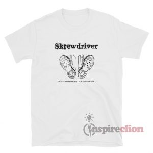 Skrewdriver Boots And Braces Voice Of Britain T-Shirt
