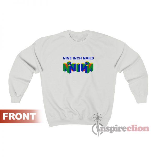 Nin Nine Inch Nails Mashup Nintendo Logo Sweatshirt