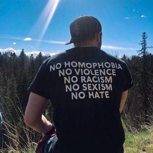 No Homophobia No Violence No Racism No Sexism No Hate T-Shirt