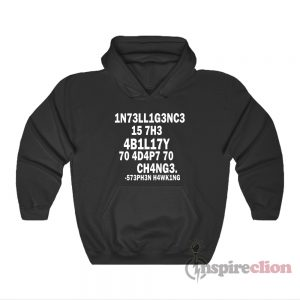 Stephen Hawking Intelligence Definition Leetspeak Hoodie