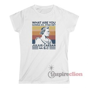 Vintage What Are You Gonna Do Stab Me Julius Caesar T-Shirt