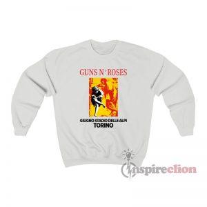 Guns N Roses Giugno Stadio Delle Alpi Torino Sweatshirt