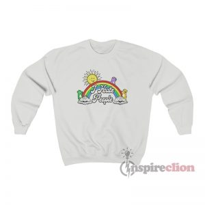 Bears Sun Rainbow Clouds I Hate People Sweatshirt