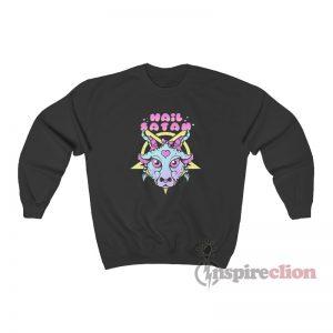 Hail Satan Goat Sweatshirt