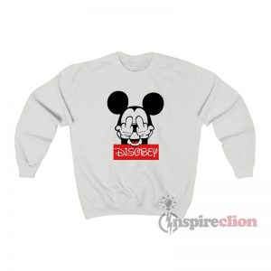 Mickey Mouse Disobey Fuck Off Middle Finger Sweatshirt