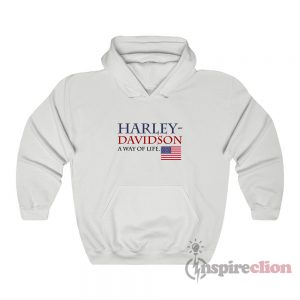 Harley Davidson A Way Of Life American Flag Hoodie