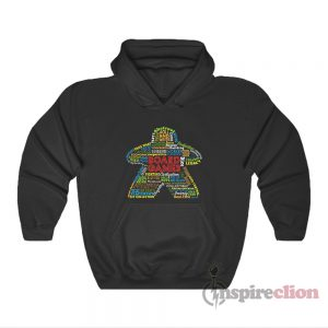 Board Game Mechanics Meeple Hoodie
