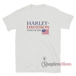 Harley Davidson A Way Of Life American Flag T-Shirt