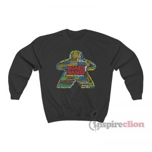 Board Game Mechanics Meeple Sweatshirt