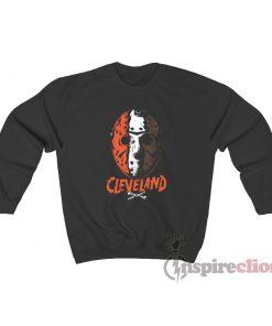 Cleveland Football Halloween Mask Sweatshirt