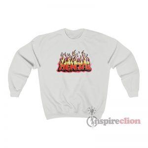 Hentai Graffiti Flames Sweatshirt