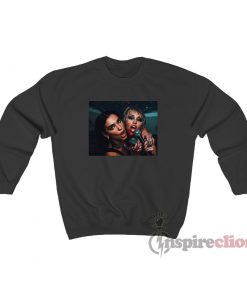 Miley Cyrus And Dua Lipa Go Wild In Prisoner Music Video Sweatshirt