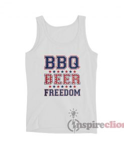 BBQ Beer Freedom Tank Top