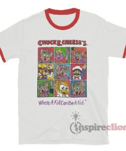 Chuck E Cheese Ringer T-Shirt